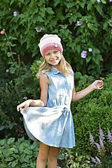 Detské čiapky - ZĽAVA z 14 eur na 10 eur Pásikavá čiapka - 9982186_