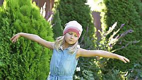 Detské čiapky - ZĽAVA z 14 eur na 10 eur Pásikavá čiapka - 9982189_