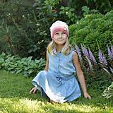 Detské čiapky - ZĽAVA z 14 eur na 10 eur Pásikavá čiapka - 9982193_