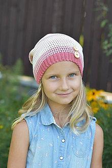 Detské čiapky - ZĽAVA z 14 eur na 9 eur Pásikavá čiapka - 9982191_