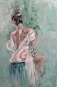 Obrazy - Lady in white - 9984541_