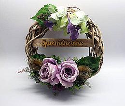 Dekorácie - Veniec - ruže - 9981273_