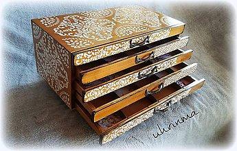 Krabičky - šperkovnica ORIENT- 5 zásuvková - 9982962_