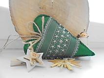 Dekorácie - Zelené vianočné srdiečka II.  - 9983785_