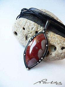 Náhrdelníky - Amulet - Jaspis picasso - 9982955_