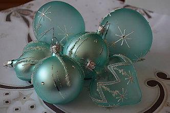 Dekorácie - Vianoce v mätovo-zelenom prevedení - 9982409_