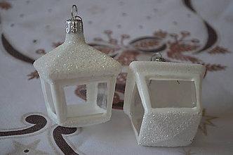 Dekorácie - Biele lampášiky na stromček - 9982432_