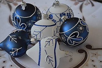 Dekorácie - Vianoce na modro - 9982470_