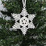 Vianočná ozdoba čipka snehová vločka 25 rôznych