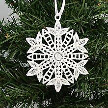 Dekorácie - Vianočná ozdoba čipka snehová vločka 25 rôznych (C) - 9983367_
