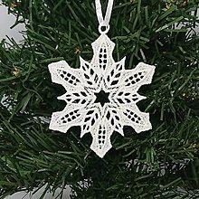 Dekorácie - Vianočná ozdoba čipka snehová vločka 25 rôznych (D) - 9983368_