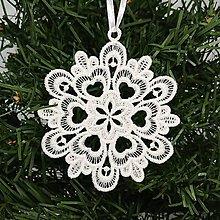 Dekorácie - Vianočná ozdoba čipka snehová vločka 25 rôznych (E) - 9983369_