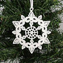 Dekorácie - Vianočná ozdoba čipka snehová vločka 25 rôznych (F) - 9983370_