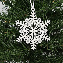 Dekorácie - Vianočná ozdoba čipka snehová vločka 25 rôznych (H) - 9983372_