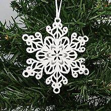 Dekorácie - Vianočná ozdoba čipka snehová vločka 25 rôznych (J) - 9983374_