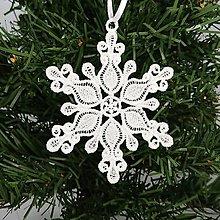 Dekorácie - Vianočná ozdoba čipka snehová vločka 25 rôznych (N) - 9983380_