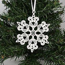 Dekorácie - Vianočná ozdoba čipka snehová vločka 25 rôznych (O) - 9983385_