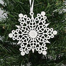 Dekorácie - Vianočná ozdoba čipka snehová vločka 25 rôznych (P) - 9983386_