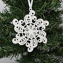 Dekorácie - Vianočná ozdoba čipka snehová vločka 25 rôznych (S) - 9983398_