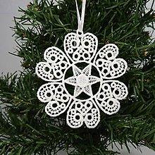 Dekorácie - Vianočná ozdoba čipka snehová vločka 25 rôznych (V) - 9983403_