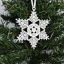 Dekorácie - Vianočná ozdoba čipka snehové vločky 25 rôznych - 9983425_