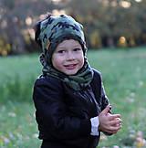 Detské čiapky - Hrejivý set - kamufláž - 9984822_