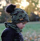Detské čiapky - Hrejivý set - kamufláž - 9984823_