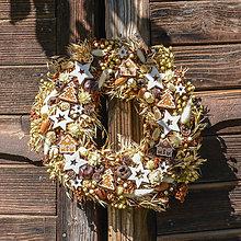 Dekorácie - Prírodný vianočný venček - 9984098_