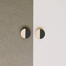 Náušnice - mini ďobky ~ napichovačky (1/2 čierne) - 9983927_