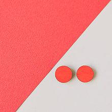 Náušnice - mini ďobky ~ napichovačky (celé červené) - 9983935_