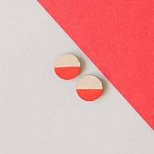 Náušnice - mini ďobky ~ napichovačky (1/2 červené) - 9983943_