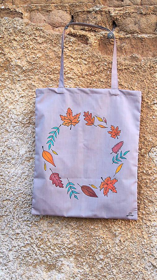 57a1a5460 Plátená taška ručne maľovaná- jeseň / 3tvorivetvory - SAShE.sk ...