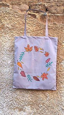 Nákupné tašky - Plátená taška ručne maľovaná- jeseň - 9983635_