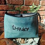 Taštičky - Recy kozmetická taška s džínsoviny - 9983600_