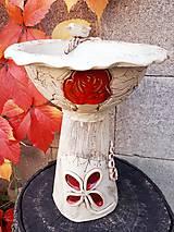 Modelovacie hmoty - Záhradné keramické krmítko,kvetináč, dekorácia do záhradky. - 9982652_