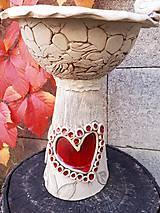 Modelovacie hmoty - Záhradné keramické krmítko,kvetináč, dekorácia do záhradky. - 9982654_