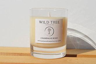 Svietidlá a sviečky - Champagne Roses - 9984235_