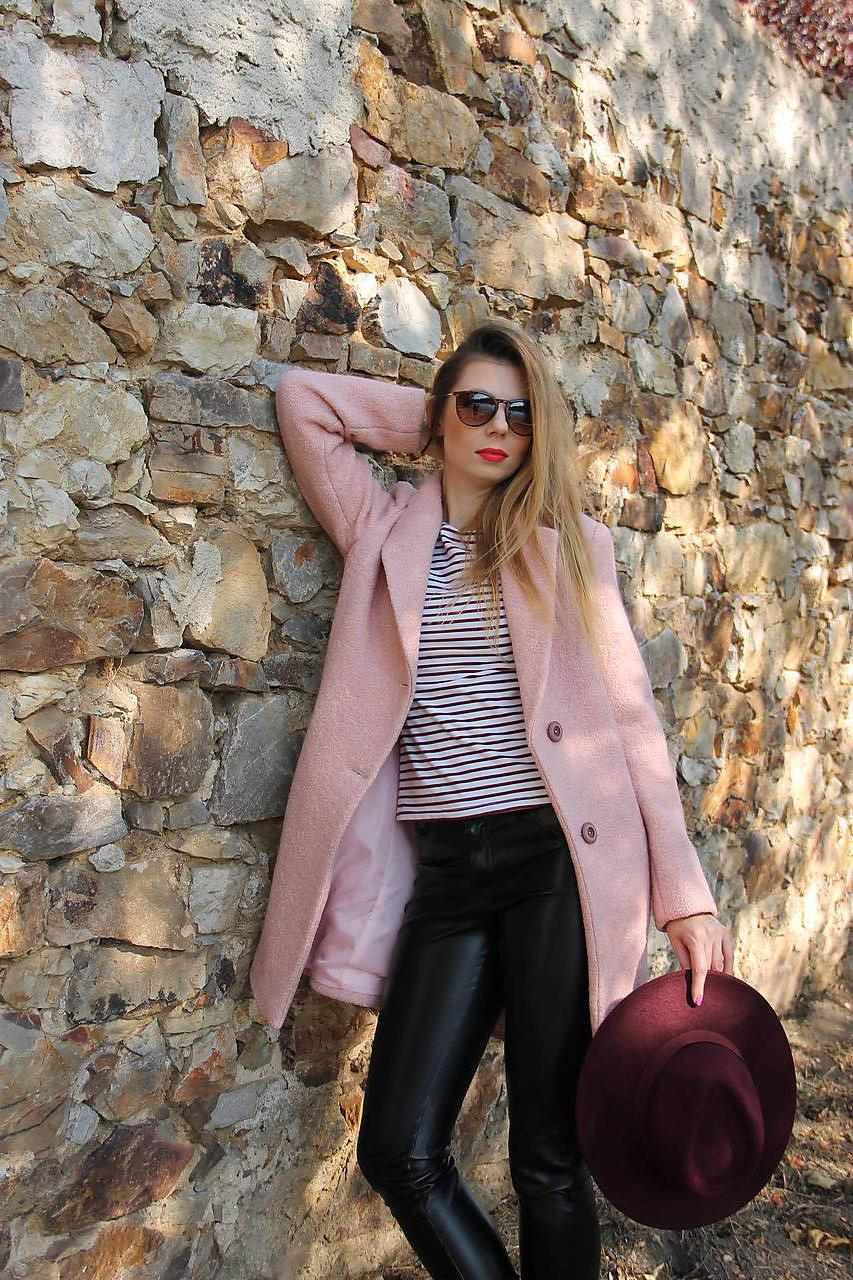 Vlnený kabát ružový   MargiFashion - SAShE.sk - Handmade Kabáty 91b1af306fc