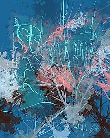 Obrazy - Svet modrých myšlienok - 9983504_