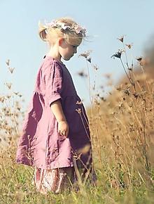 Detské oblečenie - Lněné šatičky La Rose - 9984197_