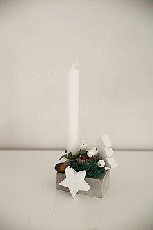 Svietidlá a sviečky - vianočná dekorácia - 9983414_