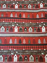Textil - látka domčeková vianočná - 9984395_