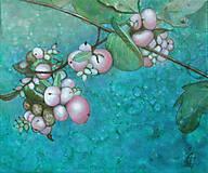 Obrazy - Růžový pámelník - olejomalba na plátně - 9981806_