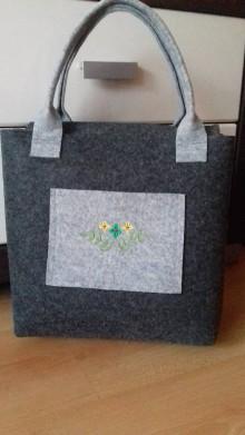 Veľké tašky - Filcová kabelka 14 - 9984194_