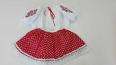 Detské oblečenie - Kroj pre dievčatko - červený, modrý..... - 9983480_