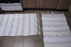 Úžitkový textil - Tkané koberce bielo-maslovo-svetlohnedé 2 ks - 9984349_