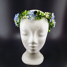 Ozdoby do vlasov - Spring Blue ... věnec - 9987598_