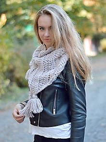 Šatky - Pohodlná šatka: perlovo ružová - 9988478_