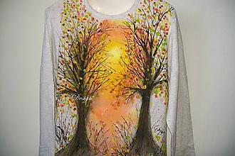 Tričká - Jesenné slnko - tričko ručne maľované - 9987339_