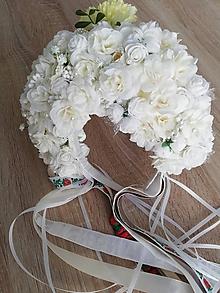 Ozdoby do vlasov - Biela romantická svadobná parta - 9986826_
